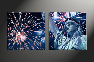Home Decor, 2 piece canvas art prints, fireworks canvas art prints, city pictures, statue artwork