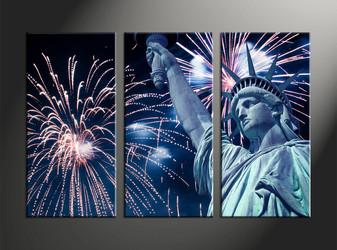 Home Decor, 3 piece canvas art prints, fireworks canvas art prints, city pictures, statue huge pictures