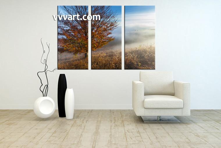 living room artwork, 3 piece pictures , forest huge pictures, landscape artwork, nature large canvas