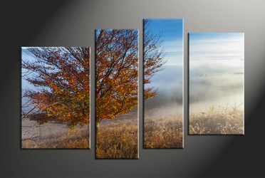 home decor, 4 piece pictures, landscape huge canvas art, scenery huge canvas art, tree large pictures