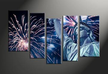 Home Decor, 5 piece canvas art prints, crackers canvas print, statue huge pictures, city photo canvas