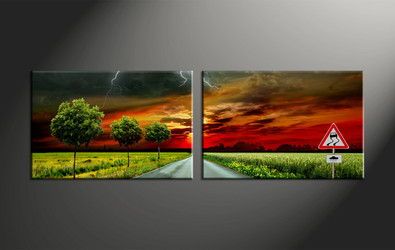 home decor, 2 piece canvas art prints, signboard canvas art prints, landscape huge canvas art, scenery canvas wall art