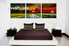 living room art, 3 piece canvas wall art, scenery multi panel canvas, sunset pictures, pathway huge canvas art