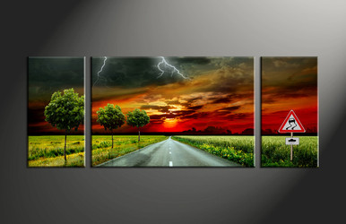 home decor, 3 piece canvas art prints, landscape artwork, signboard large canvas, scenery wall decor