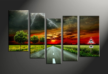 home decor, 5 piece canvas art prints, signboard canvas print, scenery canvas photography, landscape art