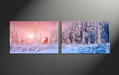 home decor, 2 piece canvas art prints, scenery pictures, landscape large canvas, nature art