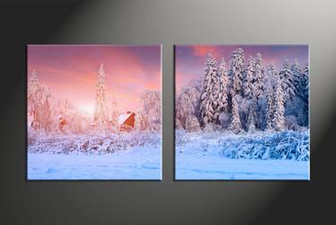 home decor, 2 piece canvas art prints, scenery multi panel art, landscape large canvas, nature multi panel canvas