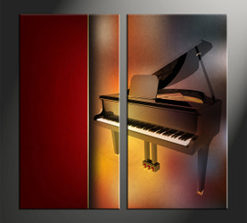 home décor, 2 piece canvas art prints, instrument canvas art prints, music canvas print, scenery pictures