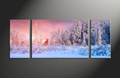 home decor, 3 piece canvas art prints, scenery multi panel art, landscape large canvas, nature group canvas