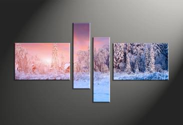 home decor, 4 piece canvas art prints, scenery multi panel art, landscape large canvas, nature art