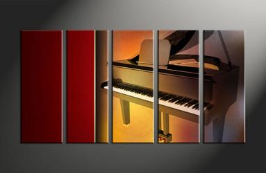 home decor, 5 piece canvas art prints, instrument canvas print, piano canvas photography, music art