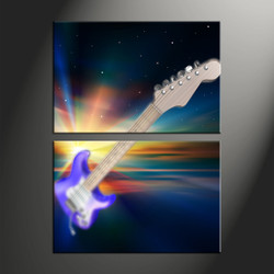home decor, 2 piece canvas art prints, guitar canvas art prints, modern huge canvas art, music canvas wall art