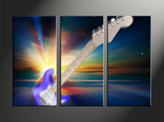 home decor, 3 piece canvas art prints, music artwork, scenery large canvas, instrument wall décor