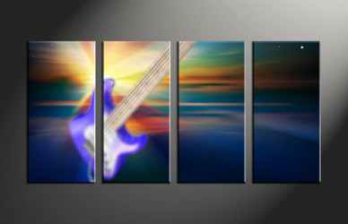 home decor, 4 piece canvas art prints, stars multi panel art, scenery large canvas, music large canvas