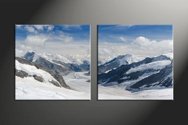 home decor, 2 piece canvas art prints, mountain canvas print, landscape canvas photography, snow art