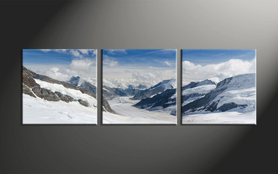 home decor, 3 piece large pictures, mountain canvas print, landscape canvas wall art, snow canvas art prints
