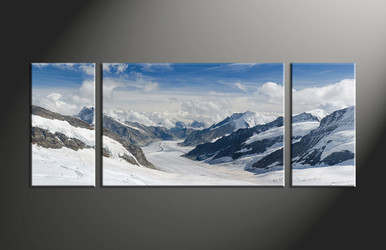 home decor, 3 piece canvas art prints, mountain canvas print, landscape canvas wall art, snow wall art