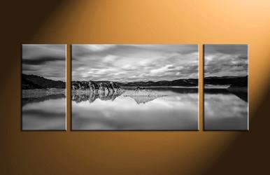 home decor, 3 piece artwork, landscape canvas wall art, black and white huge canvas art, mountain large pictures