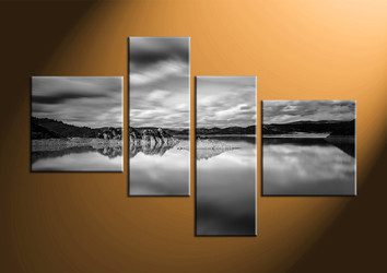 home decor, 4 piece group canvas, landscape canvas wall art, black and white huge canvas art, mountain large pictures