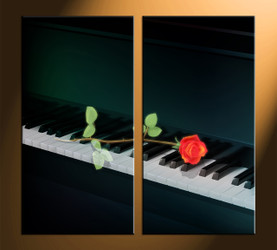 home decor, 2 piece canvas art prints, instrument pictures, rose huge canvas art, music group canvas