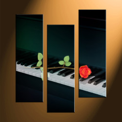 home decor, 3 piece canvas art prints, piano art, instrument large canvas, instrument photo canvas