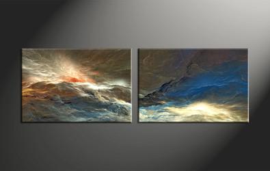 Home Decor, 2 piece canvas art prints, abstract decor, abstract photo canvas, abstract art