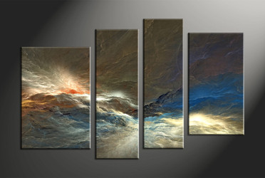 Home Decor, 4 piece canvas art prints, abstract artwork, abstract large canvas, abstract wall decor