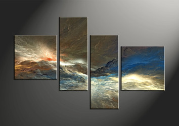 Home Decor, 4 piece canvas art prints, abstract group canvas, abstract large pictures, abstract decor