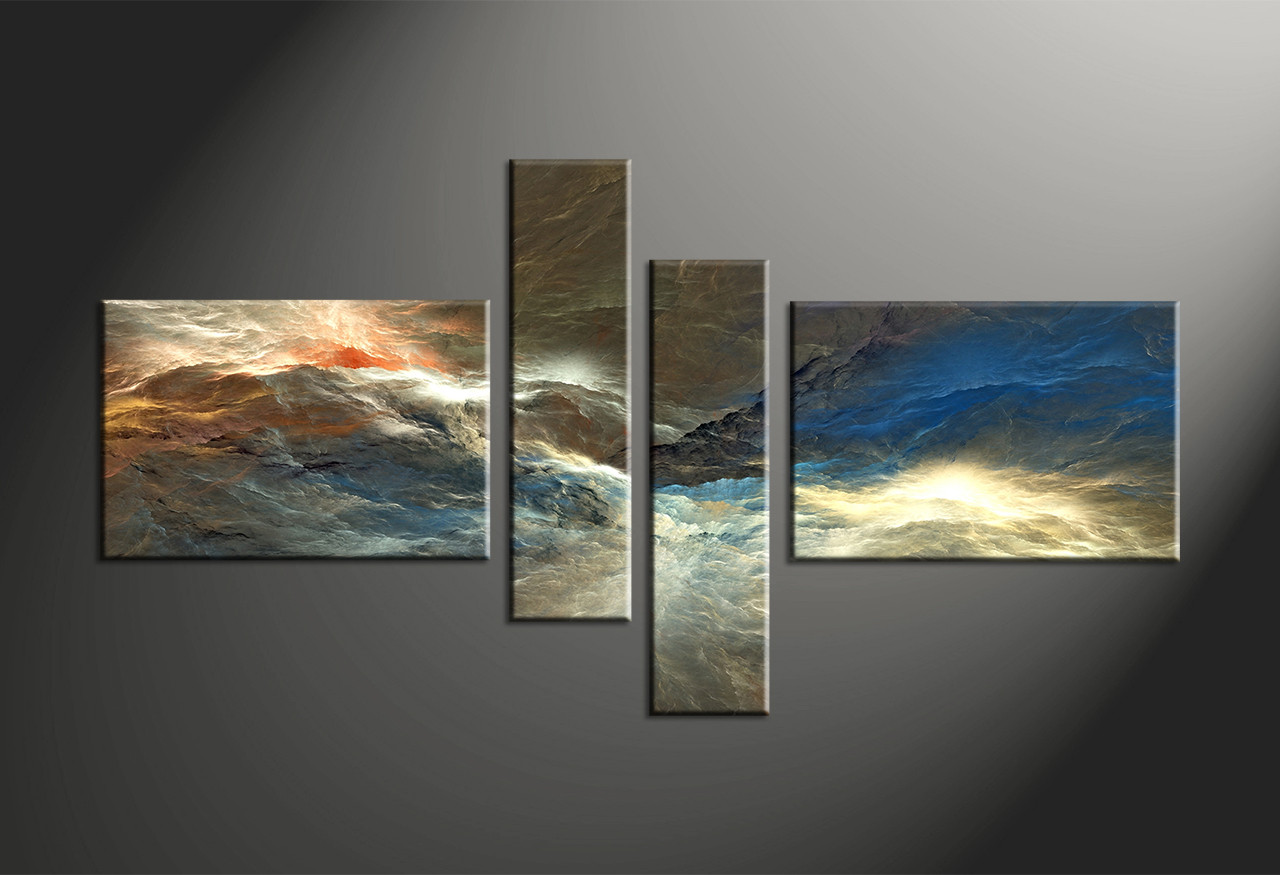 multi panel wall art 4 Piece Colorful Abstract Canvas Multi Panel Art multi panel wall art