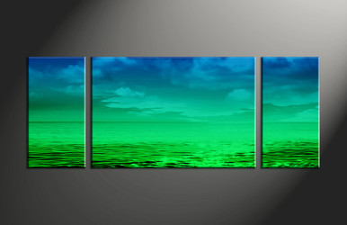 Home Decor, 3 piece canvas art prints, ocean artwork, abstract decor, abstract huge pictures