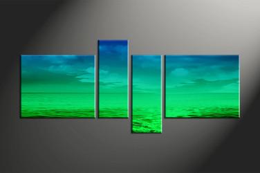 Home Decor, 4 piece canvas art prints, abstract canvas print, ocean canvas photography, abstract art