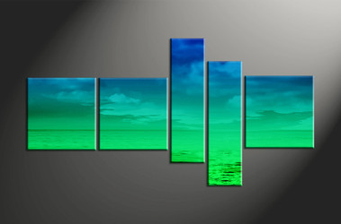 Home Decor, 5 piece canvas art prints, ocean canvas print, abstract canvas photography, abstract art