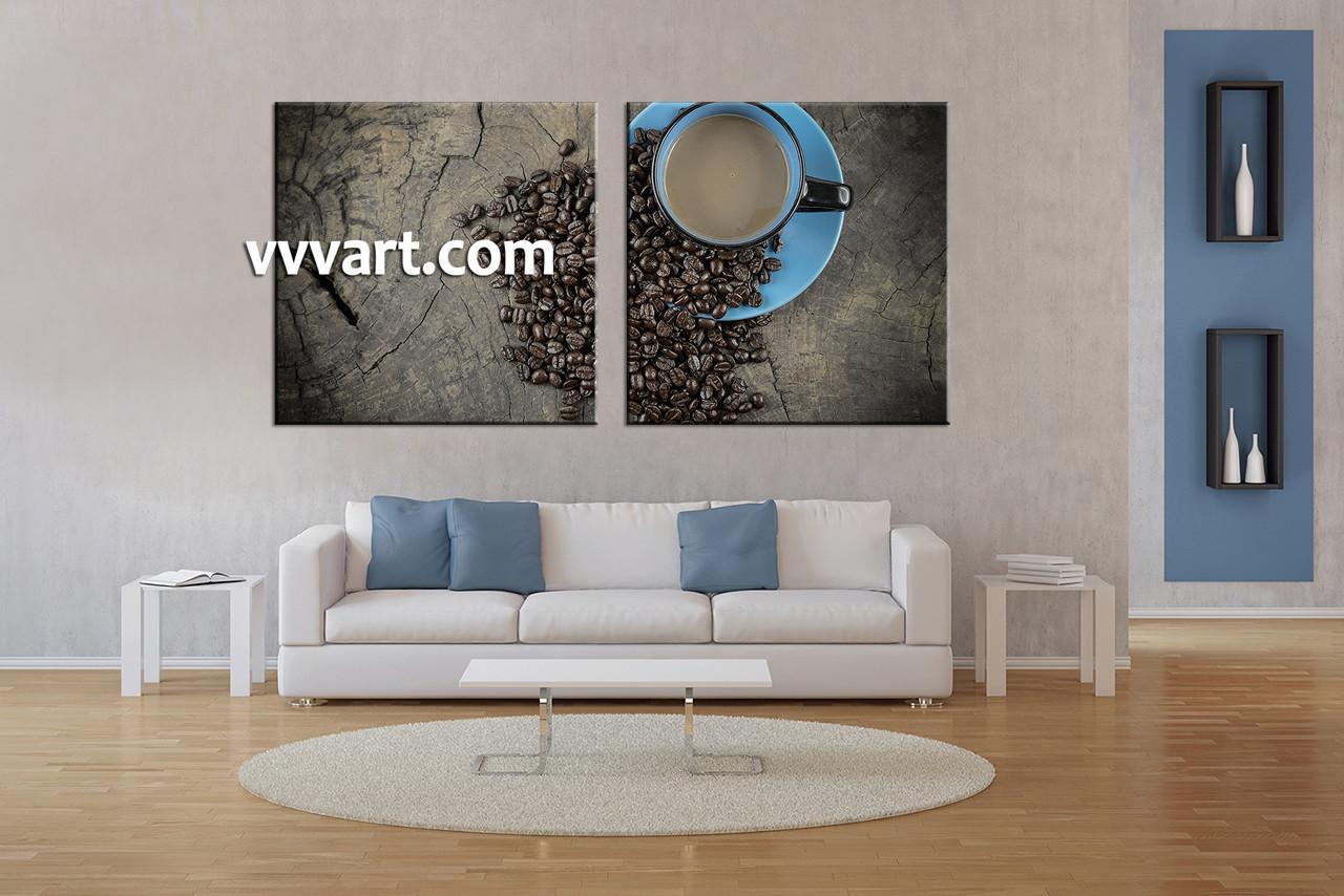 2 Piece Brown Canvas Prints, Kitchen Coffee Wall Art,Best Online Art Gallery