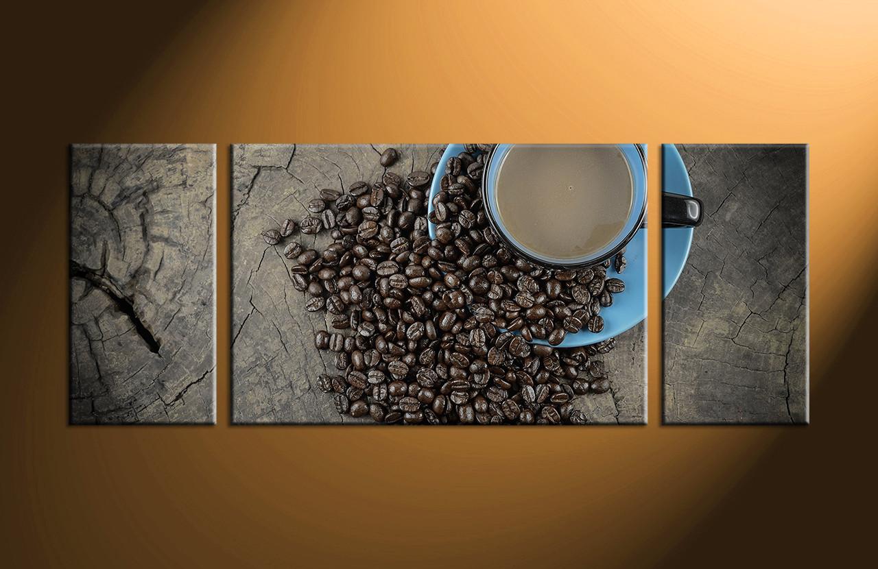 3 Piece Kitchen Brown Coffee Canvas Wall Art