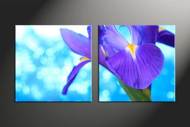 home decor, 2 piece canvas art prints, floral artwork, flower large canvas, lily wall decor