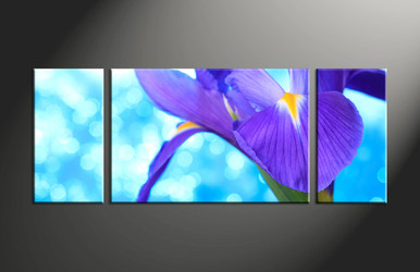 home decor, 3 piece canvas art prints, floral artwork, flower large canvas, lily wall décor