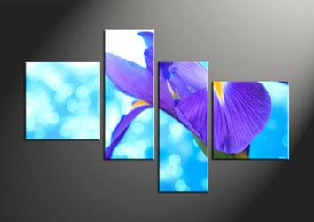 home decor, 4 piece canvas art prints, floral artwork, flower large canvas, lily wall decor