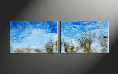 Home Decor, 2 piece canvas art prints, abstract multi panel canvas, abstract large pictures, abstract art