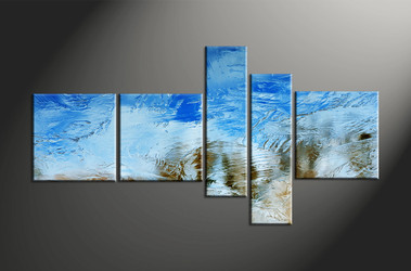 Home Decor, 5 piece canvas art prints, abstract group canvas, abstract multi panel canvas