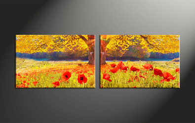 Home Decor, 2 piece canvas art prints, scenery large canvas, scenery artwork, flower large canvas