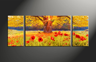 Home Decor, 3 piece canvas art prints, scenery canvas print, scenery wall art, floral canvas wall art