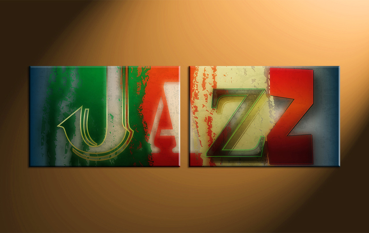 Home Decor 2 Piece Canvas Art Prints Music Jazz Huge