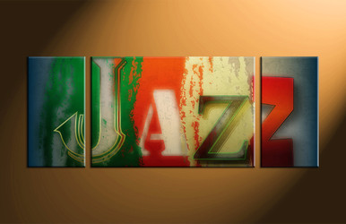 home decor, 3 piece canvas art prints, music artwork, jazz large canvas, modern wall decor