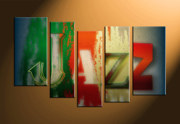 home decor, 5 piece canvas art prints, jazz canvas print, music canvas photography, modern art