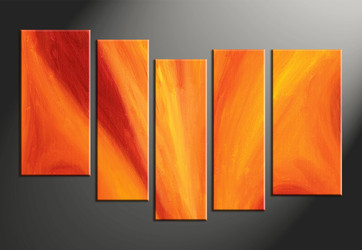 Home Decor, 5 piece canvas wall art, abstract photo canvas, abstract multi panel art, abstract artwork