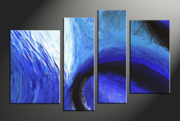 Home Decor, 4 piece canvas wall art, abstract art, abstract canvas wall art, abstract multi panel canvas