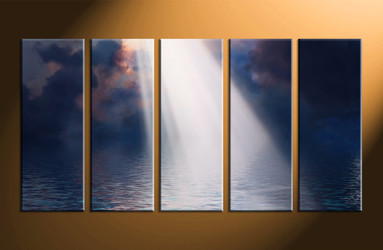 home decor, 5 piece canvas art prints, scenery canvas print, ocean canvas photography, oil paintings art