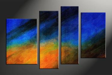 Home Decor, 4 piece canvas wall art, abstract art, abstract group canvas, abstract décor