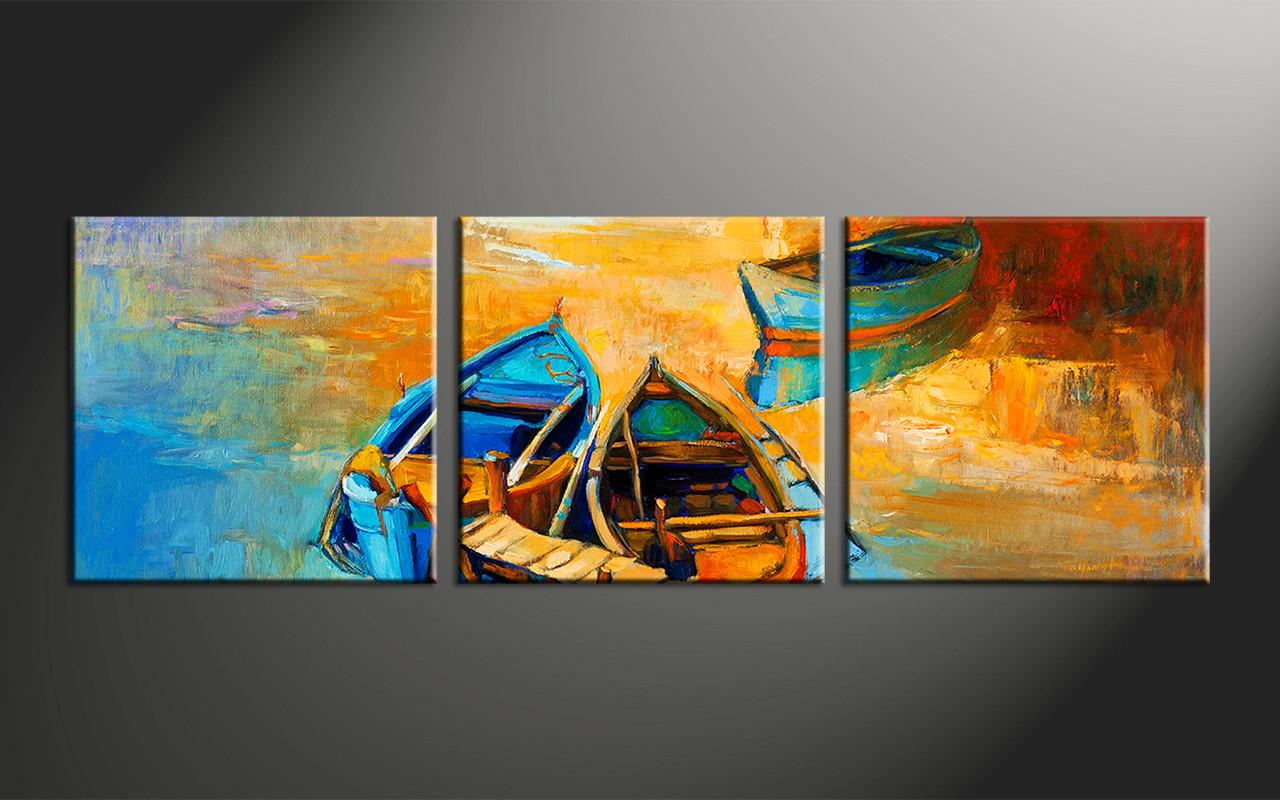 Home Decor 3 Piece Photo Canvas Oil Paintings Artwork Ocean Large