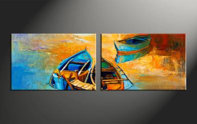 home decor, 2 piece artwork, ocean canvas photography, gondola huge canvas art, scenery canvas wall art